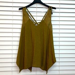 NWOT Sun & Shadow women's cotton top Size XL
